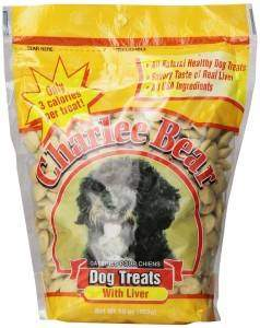 Pouch of Charlee bear treats on white bg