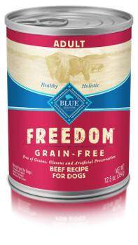 Blue Buffalo Freedom Grain-Free Wet Adult Dog Food isolated on white