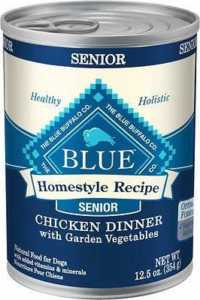 Blue Buffalo Homestyle Recipe Senior Chicken Dinner with Garden Vegetables Canned Dog Food