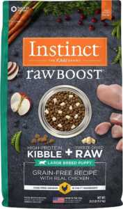 Instinct by Nature's Variety Raw Boost Large Breed Puppy Grain-Free Recipe with Real Chicken Dry Dog Food