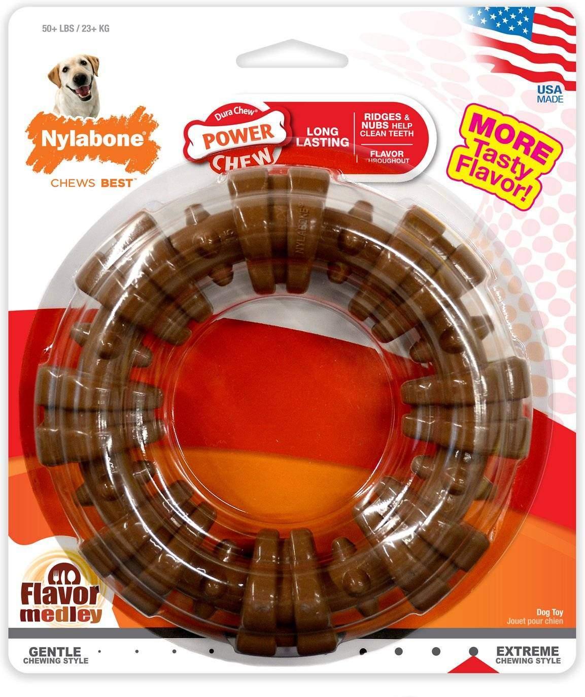 Nylabone DuraChew Textured Ring Flavor Medley Dog Toy, X-Large