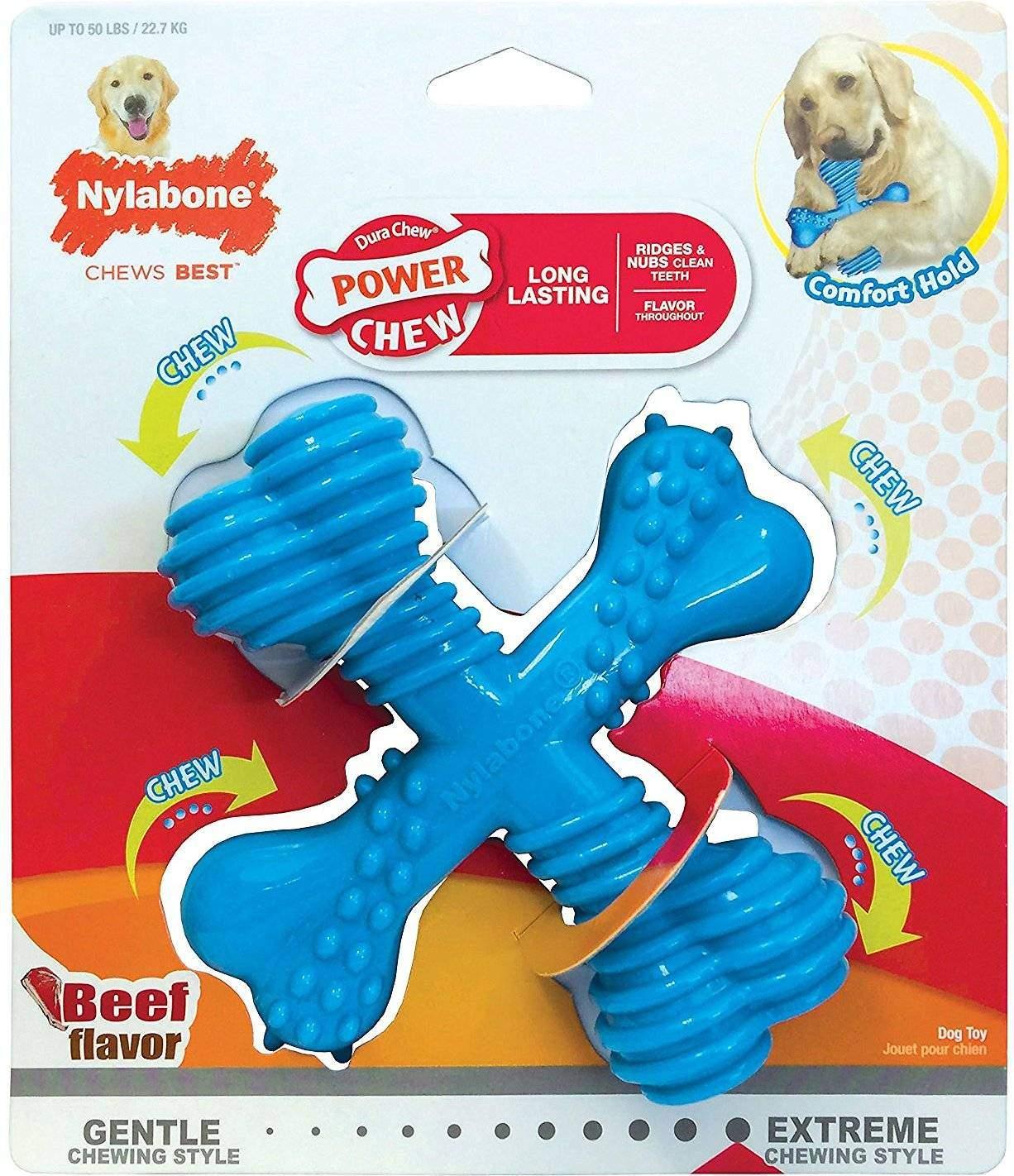 Nylabone DuraChew X Bone Beef Flavored Dog Toy