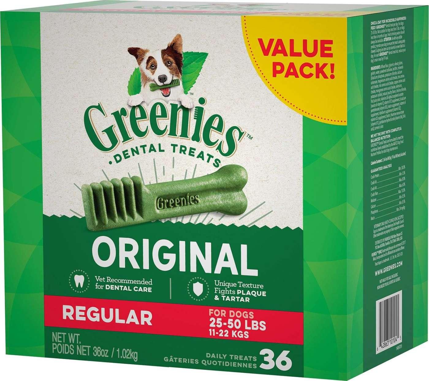 Greenies Regular Dental Dog Treat