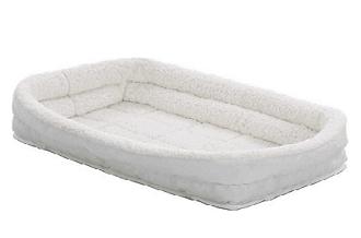 midwest quiet time deluxe double bolster pet bed fleece