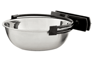 MidWest Stainless Steel Snap'y Fit Dog Kennel Bowl
