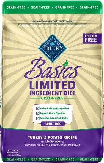 Blue Buffalo Basics Limited Ingredient Grain-Free Formula - Turkey & Potato Recipe