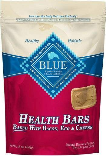 Blue Buffalo Health Bars Baked With Bacon, Egg & Cheese Dog Treats