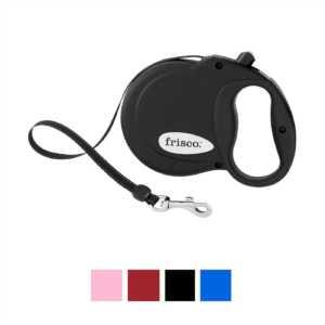 Frisco Reflective Tape Retractable Dog Leash