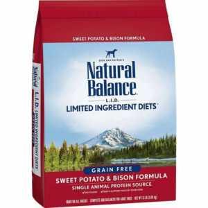 Natural Balance L.I.D. Limited Ingredient Diets Sweet Potato & Bison Formula Grain-Free Dry Dog Food