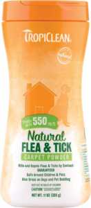 TropiClean NTropiClean Natural Flea & Tick Carpet & Pet Powderatural Flea & Tick Carpet & Pet Powder