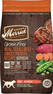 Merrick Grain-Free Real Texas Beef & Sweet Potato Recipe Dry Dog Food