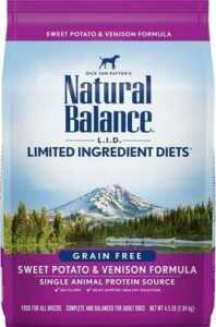 Natural Balance LID Limited Ingredient Diets Sweet Potato & Venison Formula Grain Free