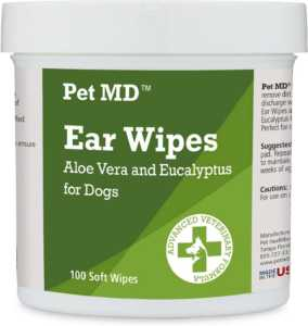 Pet MD Aloe Vera And Eucalyptus Dog Ear Wipes