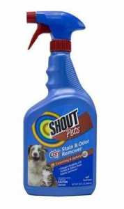 Shout Pets Oxy Stain & Odor Remover for Carpeting & Upholstery, 32-oz bottle
