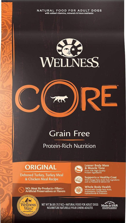 Wellness CORE Grain-Free Original Deboned Turkey, Turkey Meal, & Chicken Meal Recipe