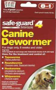 8in1 Safe-Guard 4 Canine De-Wormer For Large Dogs, 3-day Treatment – Granules