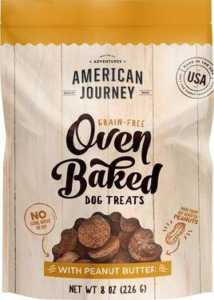 American Journey Peanut Butter Recipe Grain-Free Oven Baked Crunchy Biscuit Dog Treats