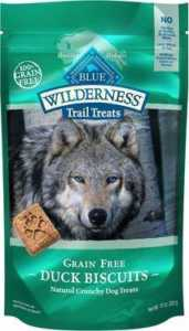 Blue Buffalo Wilderness Trail Treats Duck Biscuits Grain-Free Dog Treats
