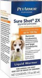 PetArmor Sure Shot 2X Liquid Wormer For Puppies & Dogs
